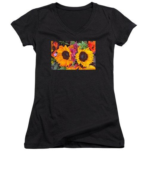 Sunflowers Eyes Women's V-Neck T-Shirt