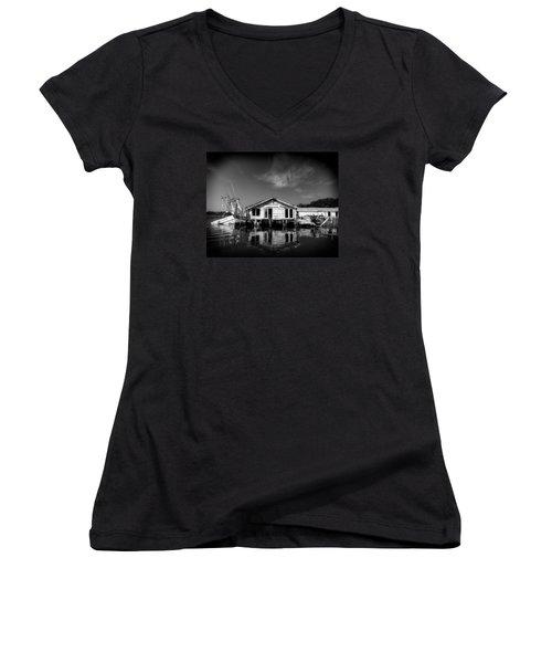 Sunken Dream Women's V-Neck T-Shirt (Junior Cut) by Alan Raasch