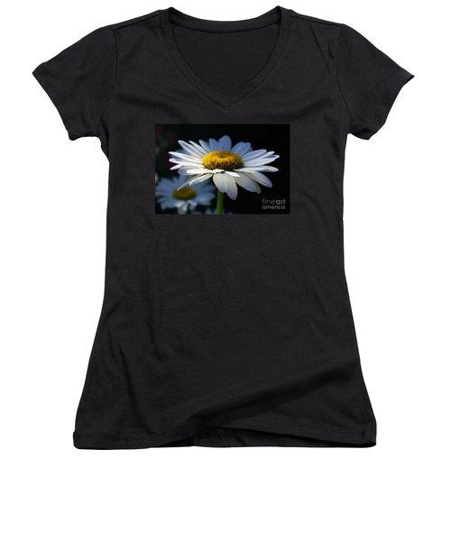 Sunlight Flower Women's V-Neck T-Shirt (Junior Cut) by John S