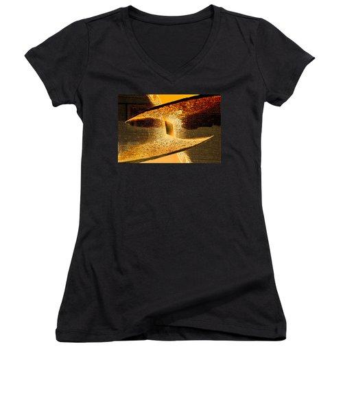 Sunlit Yellow Women's V-Neck T-Shirt