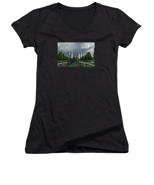Sunny Day With Clouds Women's V-Neck
