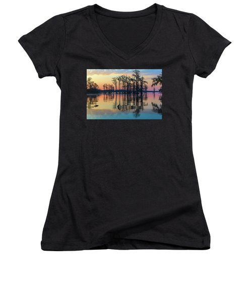 Sunrise, Bald Cypress Of Nc  Women's V-Neck (Athletic Fit)