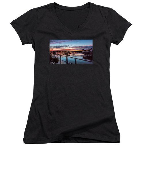 Sunrise Christmas Morning Women's V-Neck (Athletic Fit)