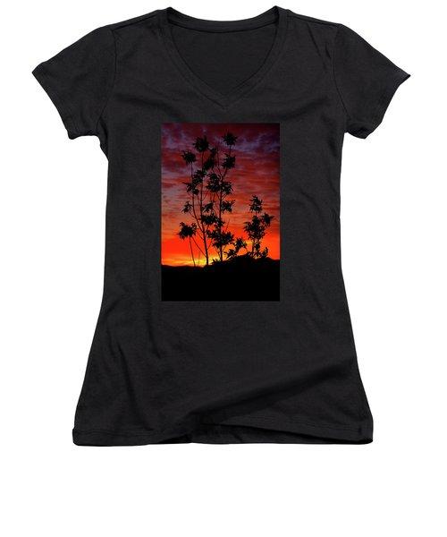Sunrise Magic Women's V-Neck T-Shirt (Junior Cut) by Paul Marto
