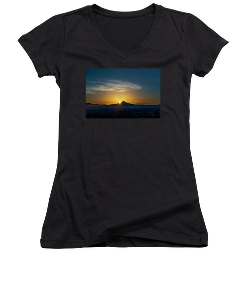 Sunrise Over Mt. Hood Women's V-Neck