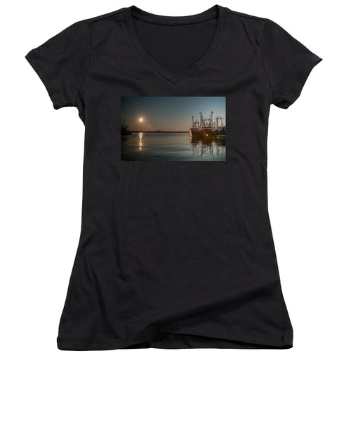 Sunrise Over New Bedford, Women's V-Neck