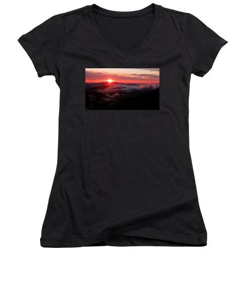 Sunrise Over Wyvis Women's V-Neck