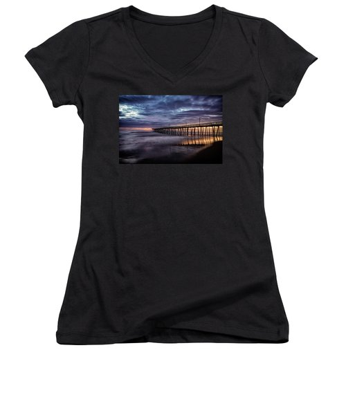 Sunrise Pier Women's V-Neck