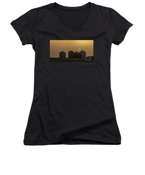 Sunrise Through The Fog Women's V-Neck T-Shirt