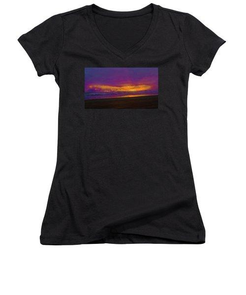 Sunset #3 Women's V-Neck