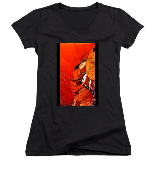 Sunset Building Women's V-Neck T-Shirt