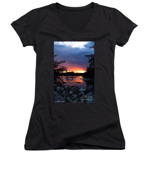 Sunset Cove Women's V-Neck T-Shirt