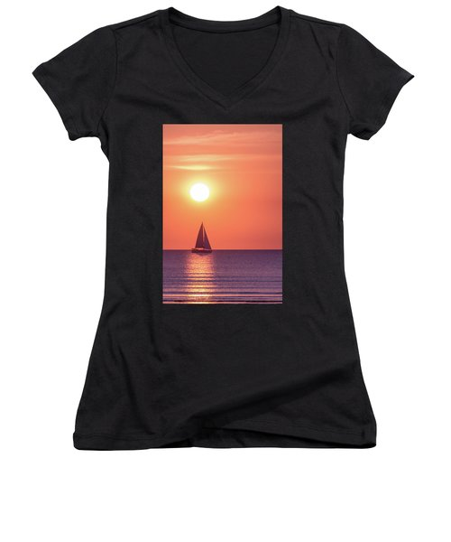 Sunset Dreams Women's V-Neck (Athletic Fit)