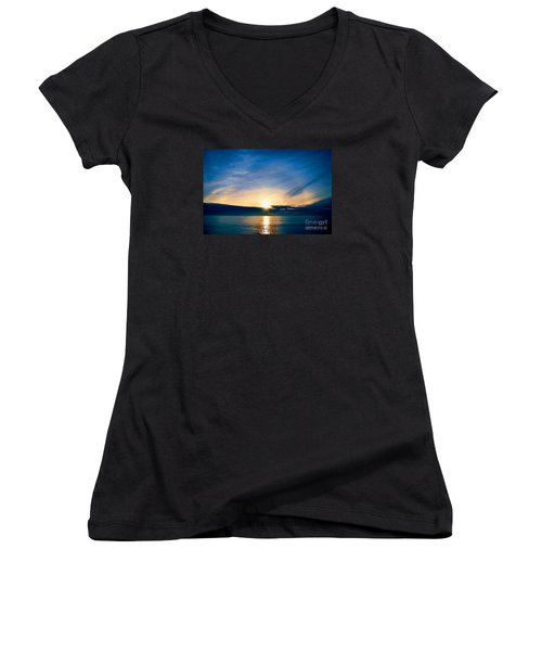Shine Through Me Women's V-Neck T-Shirt (Junior Cut) by Sharon Soberon