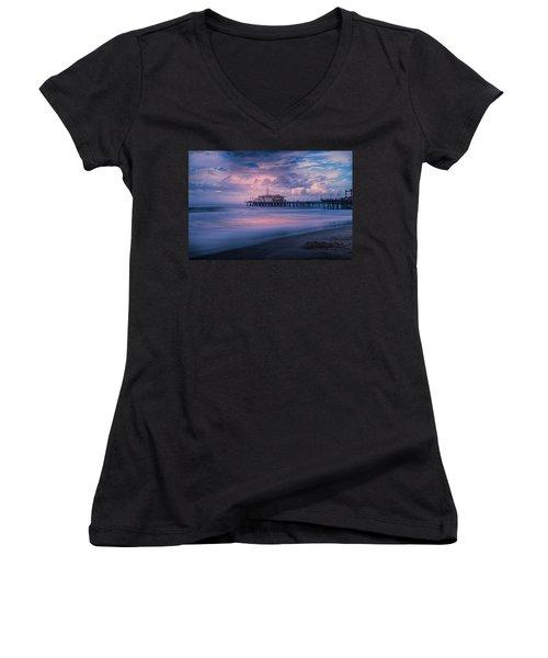 Sunset Glow Women's V-Neck T-Shirt