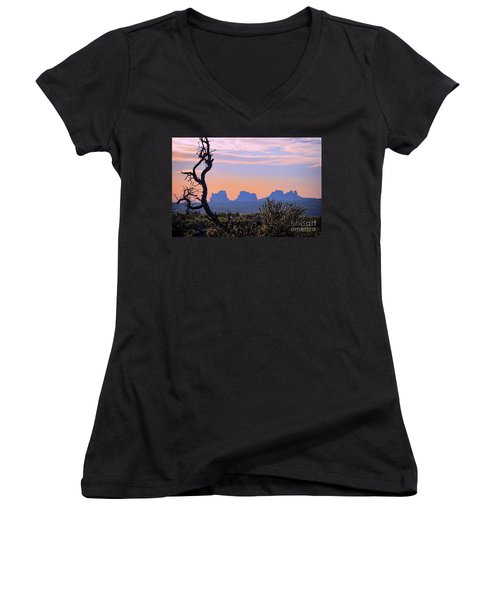 Sunset In Utah Women's V-Neck T-Shirt
