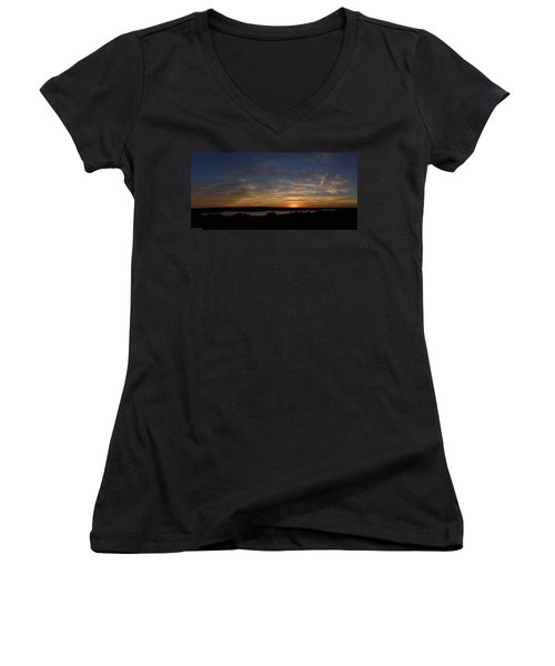 Sunset On Lake Georgetown Women's V-Neck