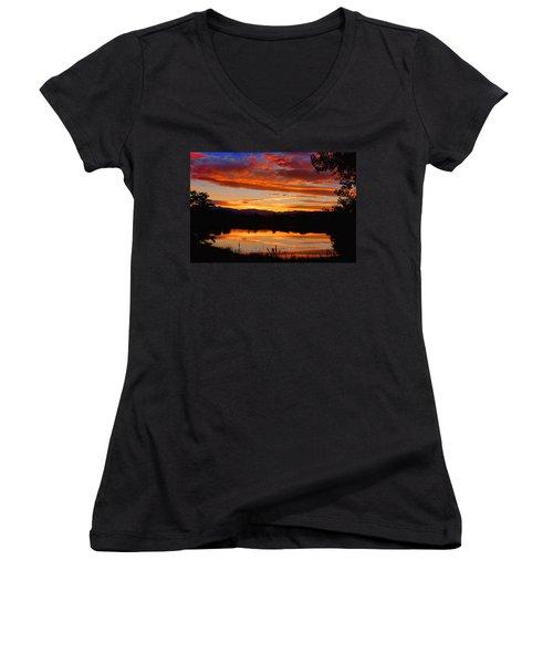 Sunset Reflections Women's V-Neck