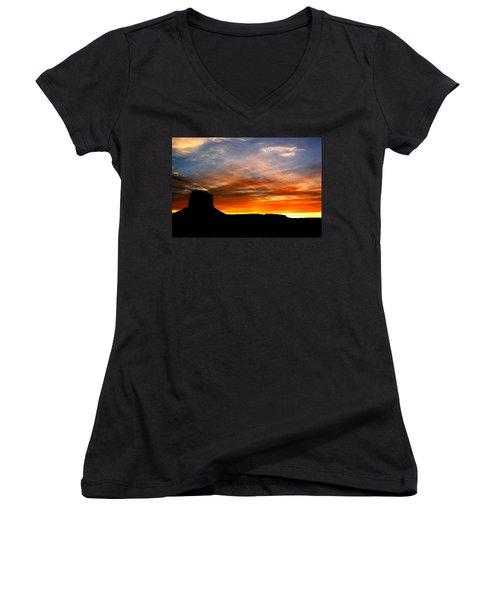 Sunset Sky Women's V-Neck