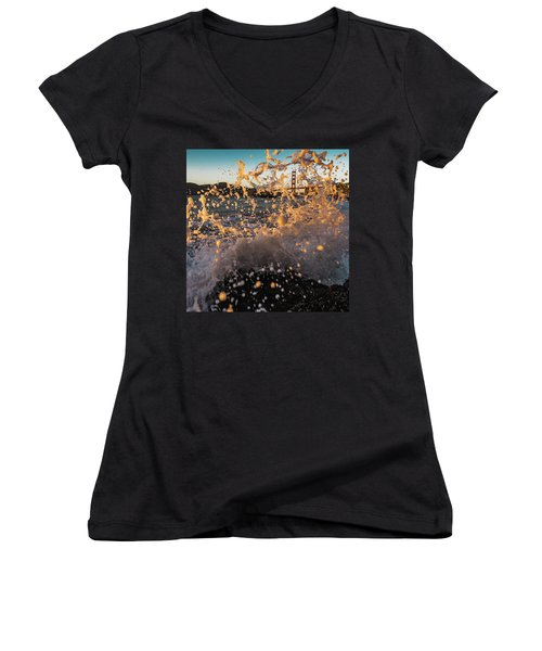 Sunset Splash Women's V-Neck T-Shirt