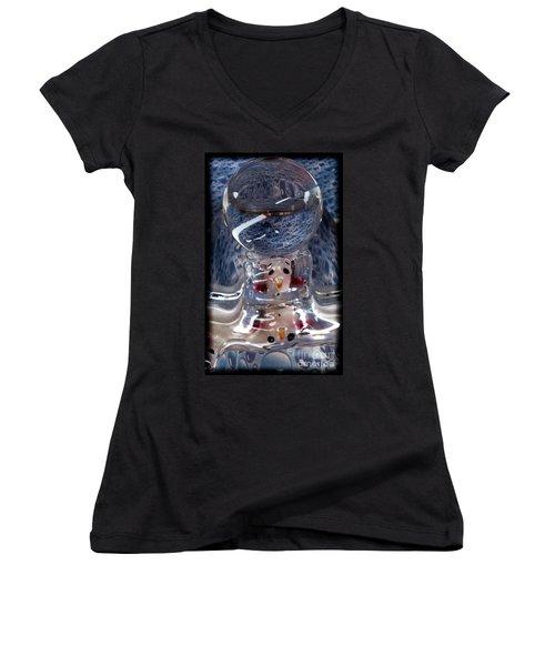 Sunshine Melts A Snowman's Heart Women's V-Neck T-Shirt (Junior Cut)