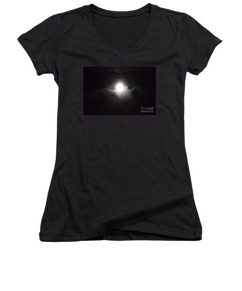 Super Moon 1 Women's V-Neck T-Shirt
