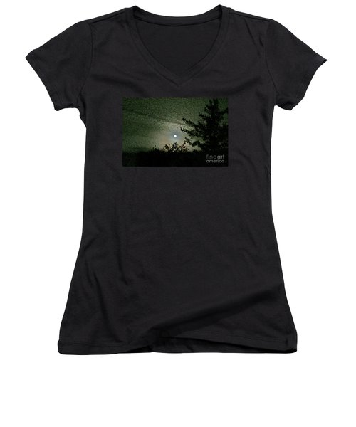 Super Moon Colors Women's V-Neck T-Shirt