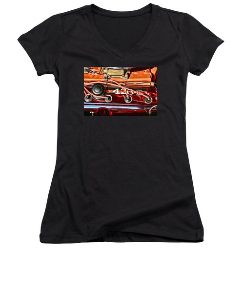 Super Stock Ss 426 IIi Hemi Motor Women's V-Neck (Athletic Fit)