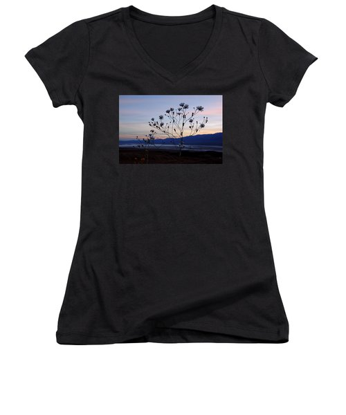 Superbloom Sunset In Death Valley 102 Women's V-Neck T-Shirt