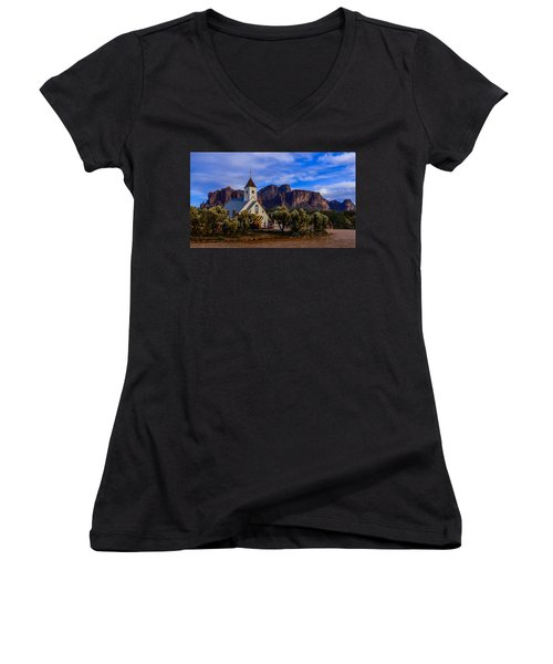 Superstition Church Women's V-Neck (Athletic Fit)