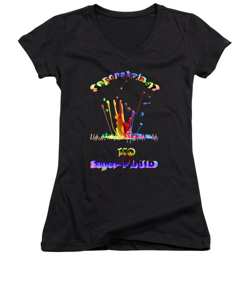Women's V-Neck T-Shirt featuring the photograph Superstring Superfluid by Robert G Kernodle