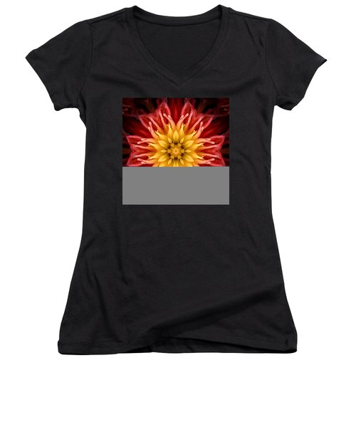 Surreal Flower No.1 Women's V-Neck (Athletic Fit)