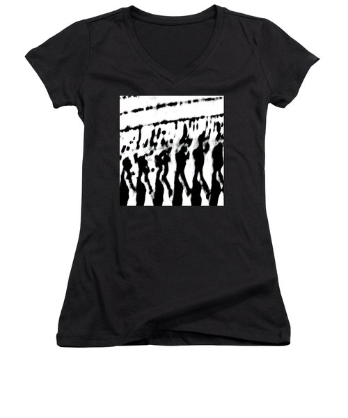 Surreal From Tire Tracks In Sand Women's V-Neck T-Shirt (Junior Cut)