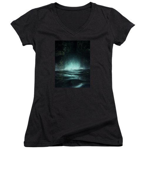 Surreal Sea Women's V-Neck T-Shirt (Junior Cut) by Nicklas Gustafsson