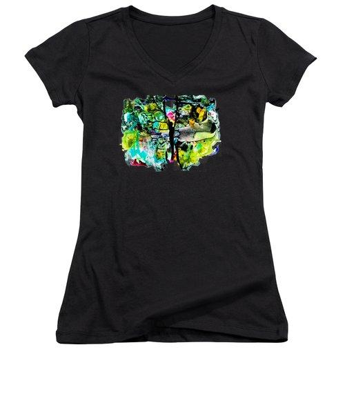 Suspended Women's V-Neck T-Shirt
