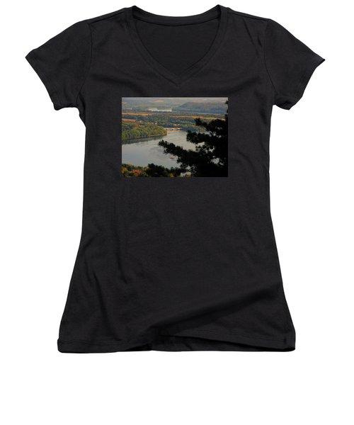 Susquehanna River Below Women's V-Neck