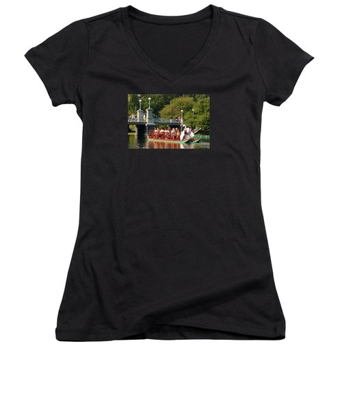 Swan Boats Women's V-Neck T-Shirt