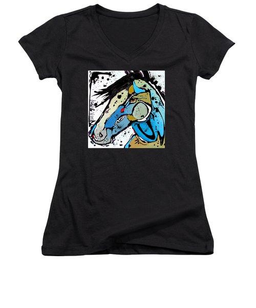 Sweet Blue Women's V-Neck