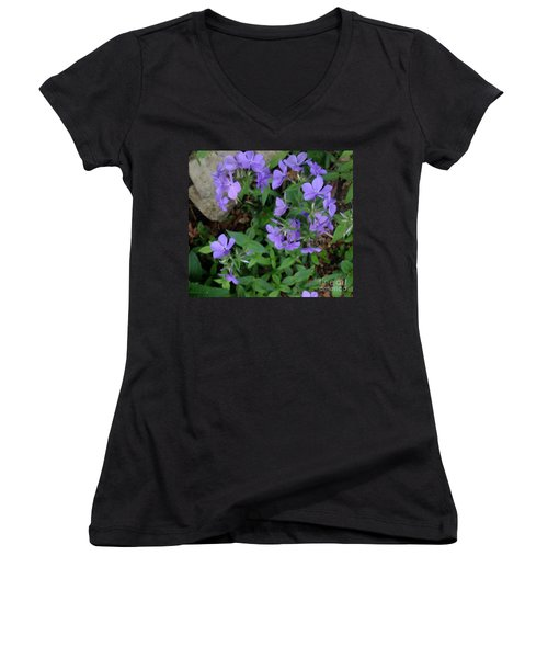 Sweet Williams In The Spring Women's V-Neck (Athletic Fit)
