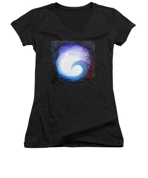 Swirl Of Fog Women's V-Neck T-Shirt