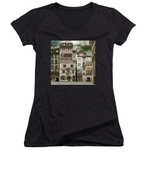 Swiss Reconstruction Women's V-Neck (Athletic Fit)