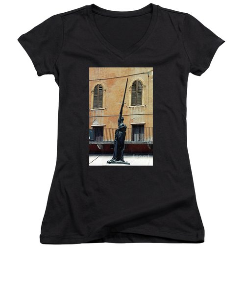 Sword Of Freedom Women's V-Neck