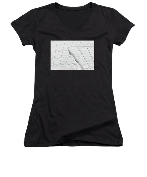 Sydney Opera House Roof No. 10-1 Women's V-Neck (Athletic Fit)