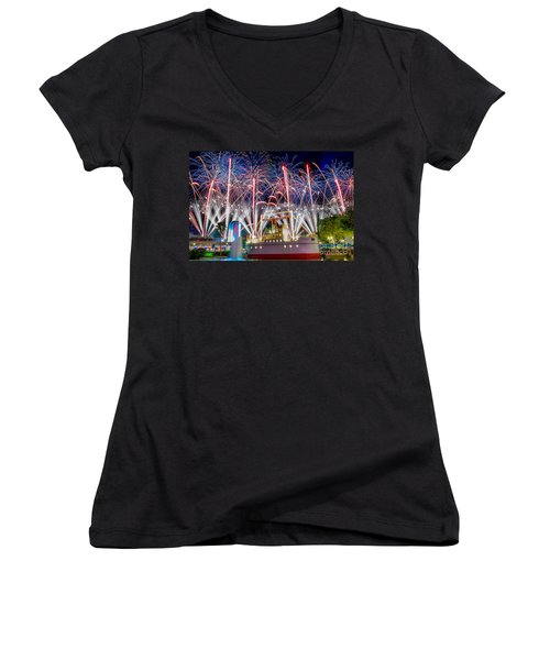 Symphony In The Stars As Seen Around Echo Lake Women's V-Neck T-Shirt