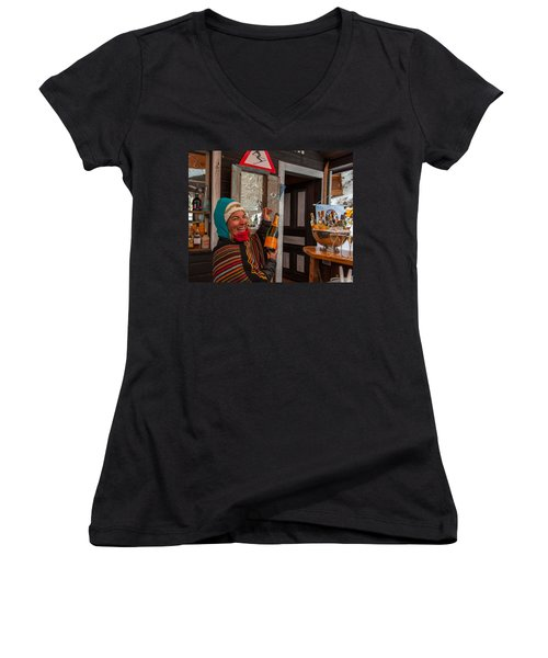 Taimi In Zermatt Switzerland Women's V-Neck T-Shirt