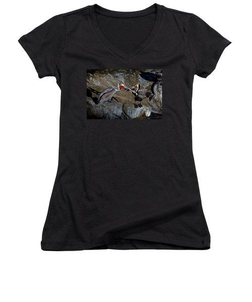 Taking A Bite Women's V-Neck T-Shirt