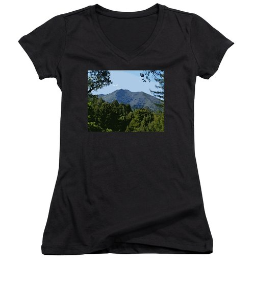 Tamalpais...the Sleeping Princess Women's V-Neck