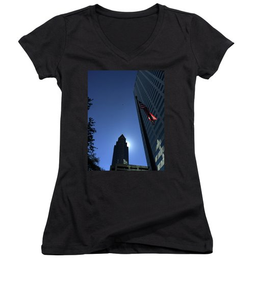 Tampa At Noon On A Monday Women's V-Neck (Athletic Fit)