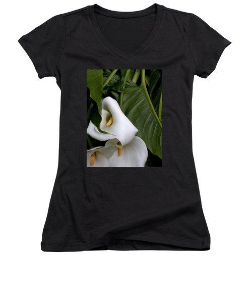 Tangled Women's V-Neck T-Shirt (Junior Cut) by Marie Neder