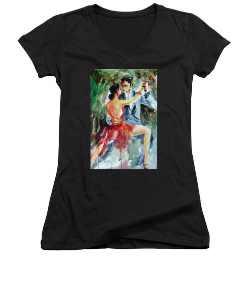 Tango In The Night Women's V-Neck T-Shirt